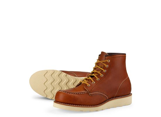 women s 3375 6 moc toe oro leather boot red wing heritage