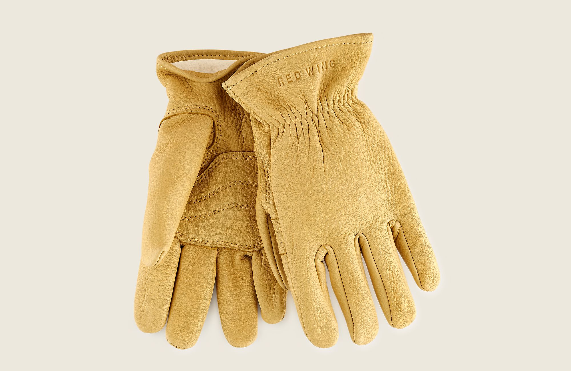 Lined Buckskin Leather Glove image number 0