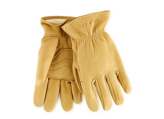 Yellow Buckskin Leather Unlined Glove product photo
