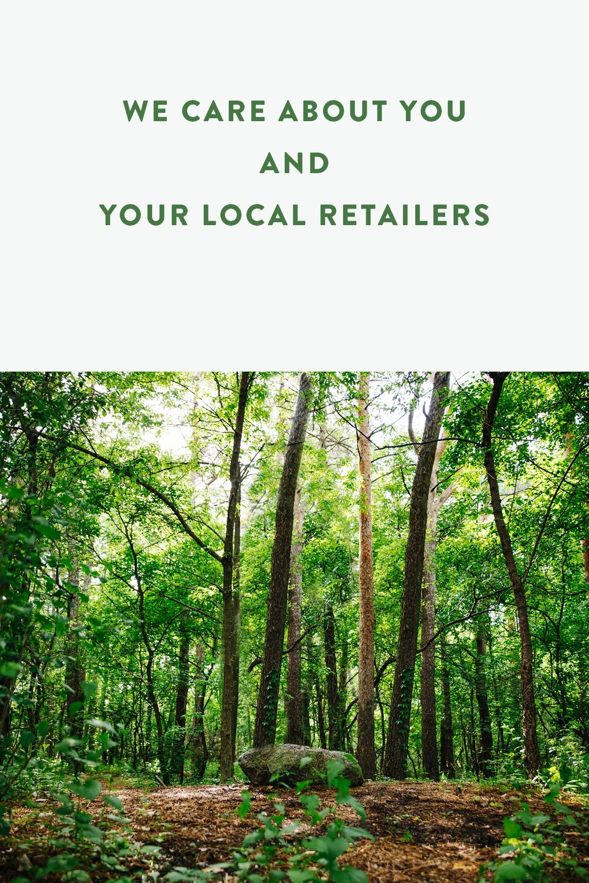 We care about you and your local retailers (mobile)