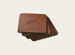 Oro Pioneer Leather Coasters product photo