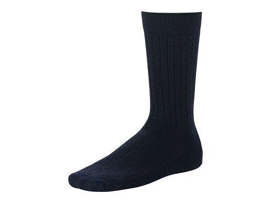 Navy Classic Rib Sock product photo