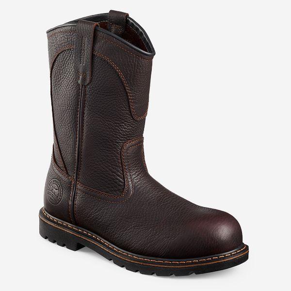 32c896b8cea Men's Farmington 11-inch Leather Pull-On Safety Toe Work Boot 83904 ...