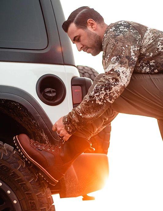Men's Elk Tracker 12-inch Waterproof Leather 600g Insulated