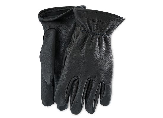 Black Buckskin Leather Lined Glove product photo