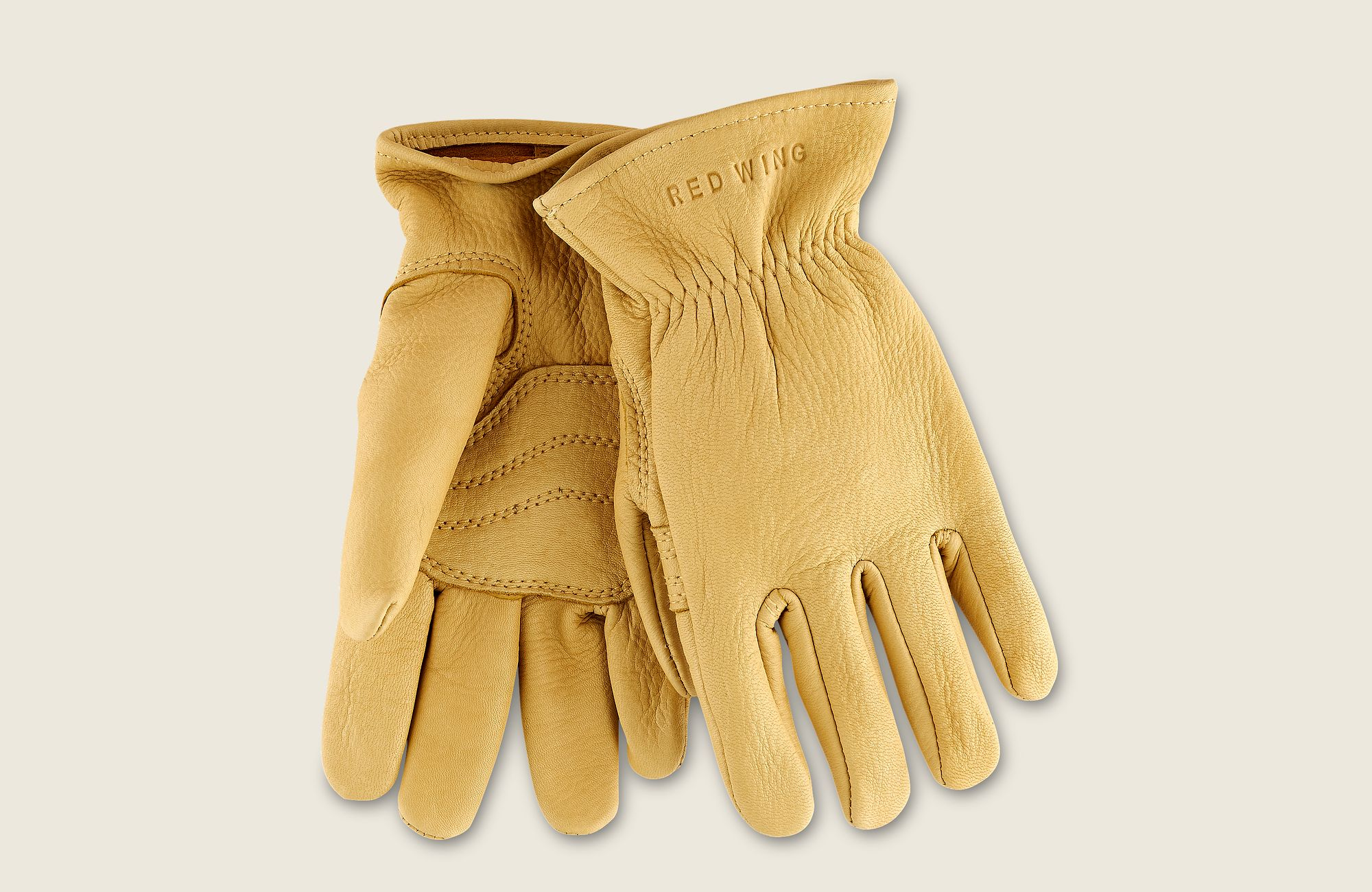 Unlined Buckskin Leather Glove image number 0