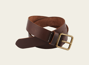 Amber Pioneer Leather Belt product photo