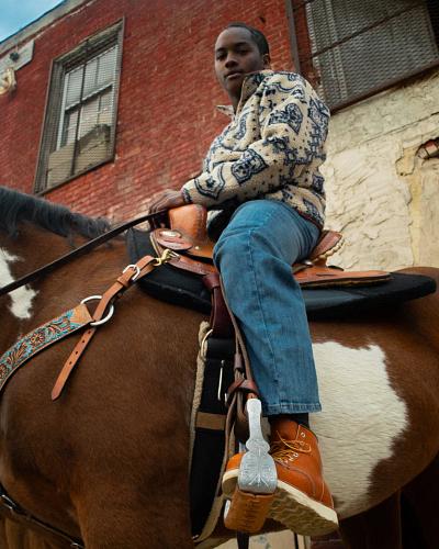 Stephon Jr. on a horse