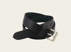 Black Pioneer Leather Belt product photo
