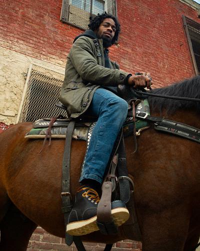 Miz on a horse