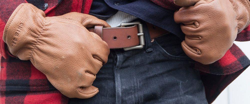 Lined Buckskin Leather Glove Gallery Image 2