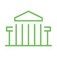 Government building outline icon.ai