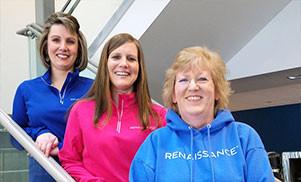 renaissance employees on starcase
