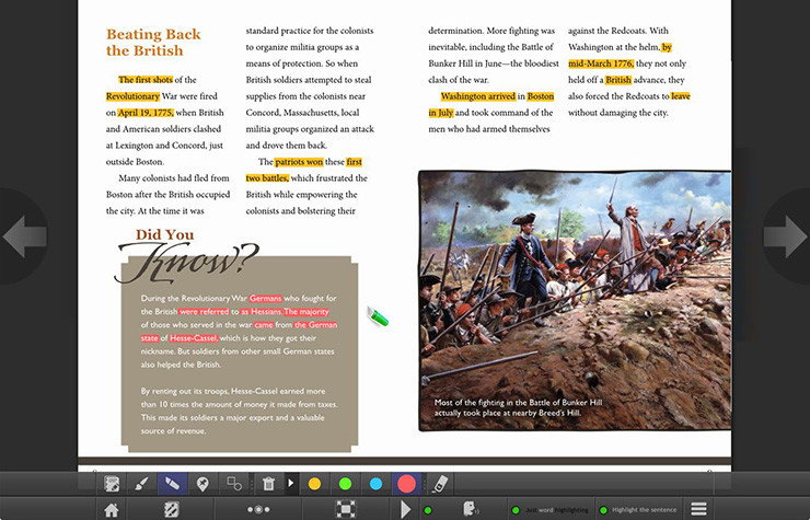 Beating Back the British article in myON Reader