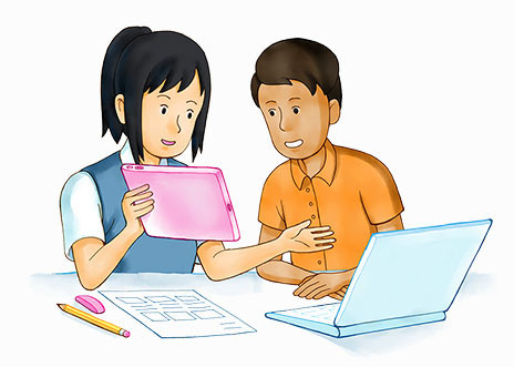 Two-students-working-together-greyBG-464