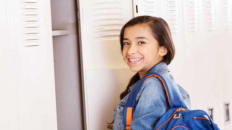 Girl at locker