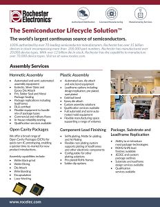 Rochester Electronics Assembly Services Brochure