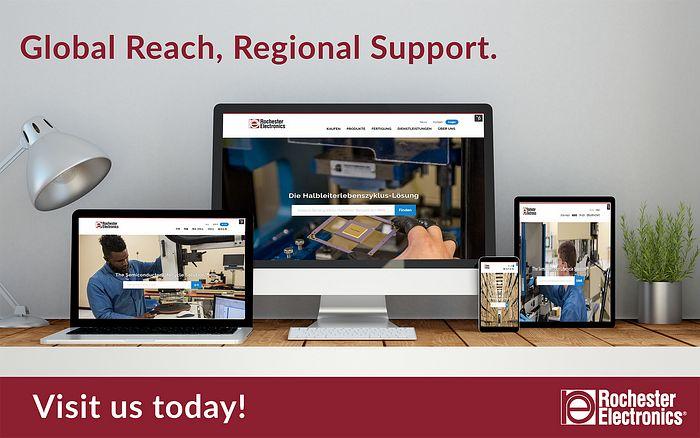 Rochester Electronics Regional Website Announcement