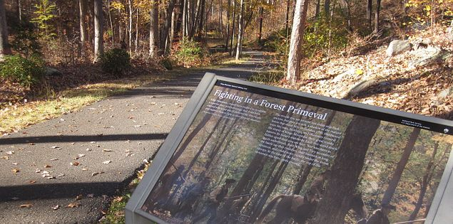 Learn about the battle of Kings Mountain as you walk along the trail.
