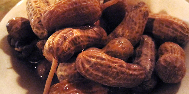 Boiled peanuts from the Glass Onion in Charleston, South Carolina