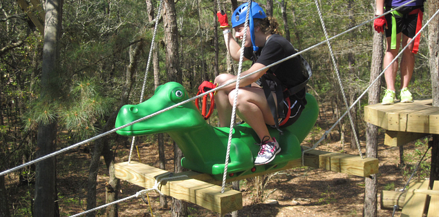 Gator Zip at Aerial Adventures
