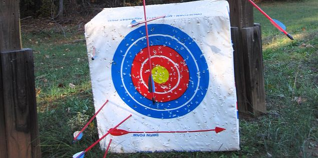 Targets for arrows at Hickory Knob State Park in South Carolina