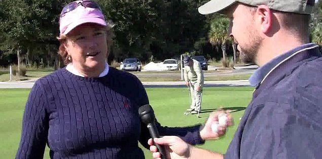 Golfer Jean Peters at South Carolina's Charleston National Golf Club