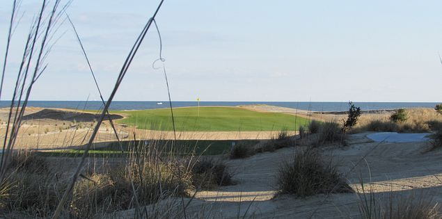 The reconstructed 18th hole at Wild Dunes
