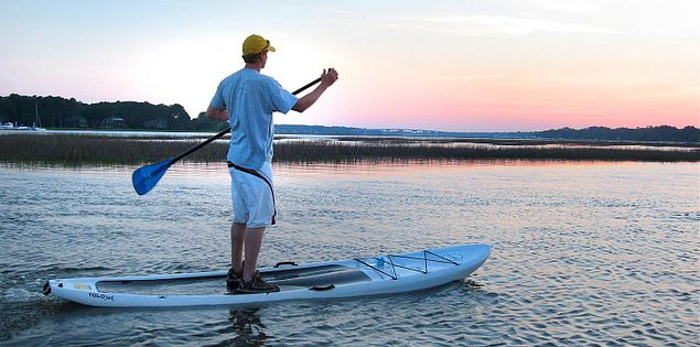 Stand up paddleboarding at Hilton Head Island's Broad Creek