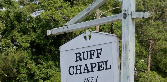 Sign for Ruff Chapel