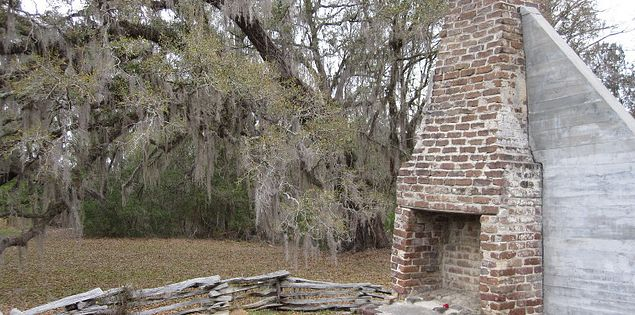 Remains of the Alston tenant house at the Hamton Plantation State Historic Site