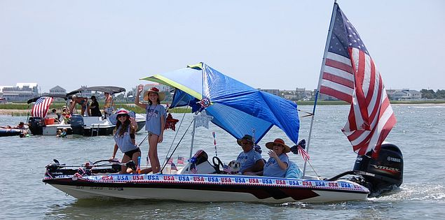 Visit Murrells Inlet, SC, on Independence Day for the infamous boat parade!