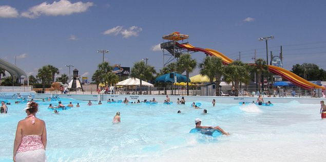 Wave pool at Wild Water and Wheels in Surfside Beach, South Carolina
