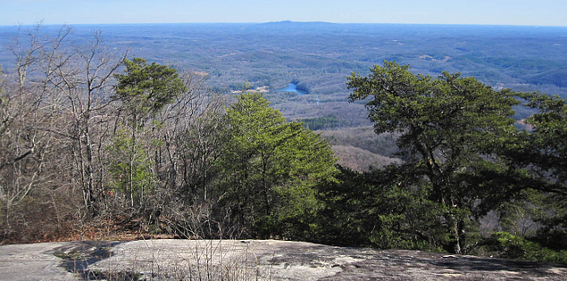 View of the Mountain Bridge Wilderness Area from Bald Rock