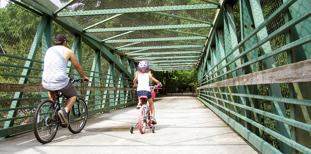 People biking on Hilton Head Island pathways