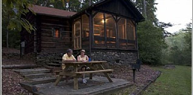 The cabins at Oconee State Park