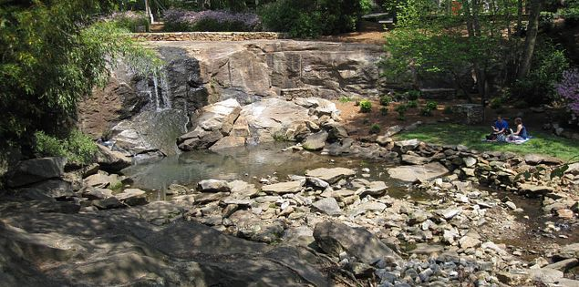 Rock Quarry Garden in Greenville's Cleveland Park