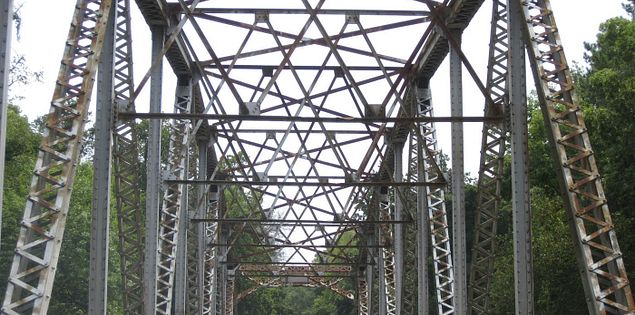 Calhoun Mill Steel Bridge on the Little River Blueway Scenic Drive