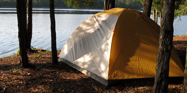 Campsite at Cheraw State Park