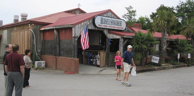 Exterior of Hudson's Smokehouse in Lexington, South Carolina