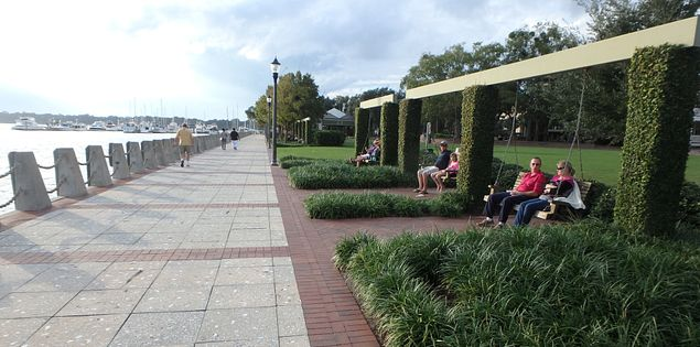 Waterfront Park along the Beaufort River