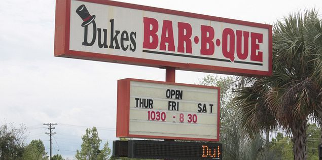 Taste some of the best barbecue around at Duke's Bar-B-Que in Aiken, South Carolina.