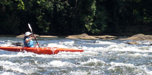 Kayaking on the Catawba River
