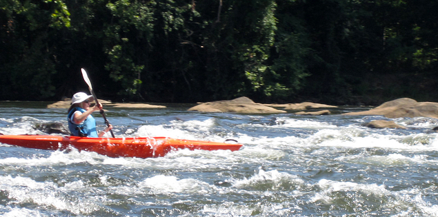 Kayaking on the Catawba River