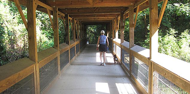 Cayce Riverwalk walking trail in South Carolina