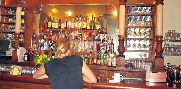 Bar from the Germania Hotel now in Motor Supply Co. Bistro in Columbia, South Carolina