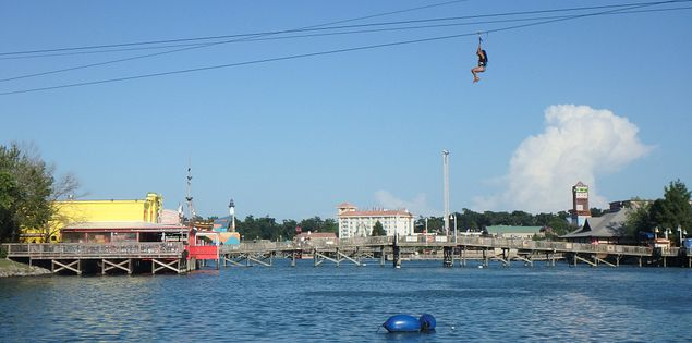 Ziplining in Myrtle Beach is a fun outdoor activity for the entire family!