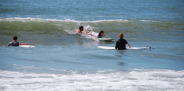 You can learn to surf in Myrtle Beach when you stay at Ocean Lakes!