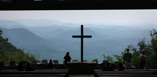 Symmes Chapel in the South Carolina Upcountry located in the Mountain Bridge Wilderness Area