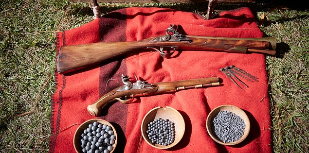 Revolutionary War weaponry displayed in South Carolina